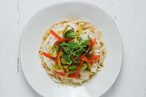 Vegetarian Szechuan Rice Noodles