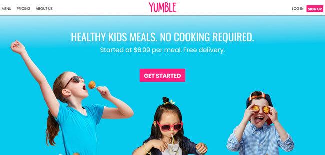 Yumble homepage