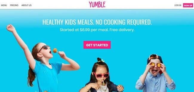 homepage Yumble