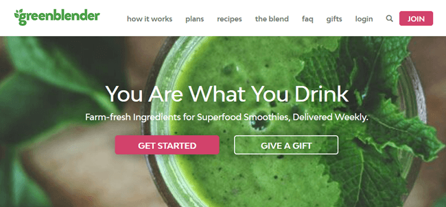 GreenBlender homepage
