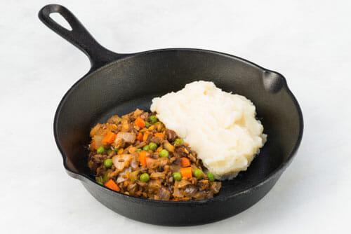 Lentil Casserole with Cauliflower Potato Mash