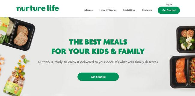 Nurture Life printscreen homepage