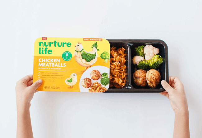 Nutrition life chicken meatballs on white background