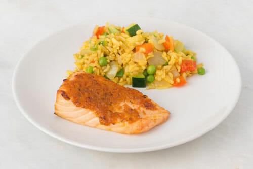 Salmon & Chickpea Paella