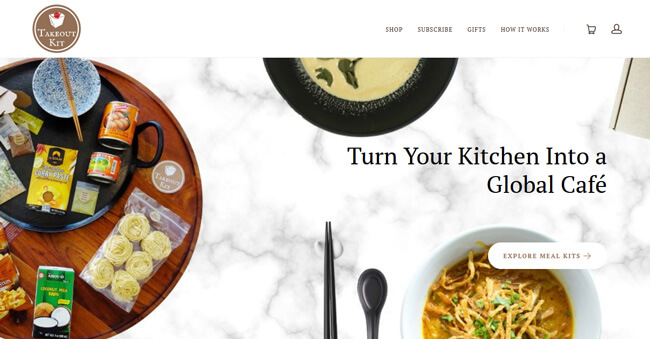 Takeout Kit homepage