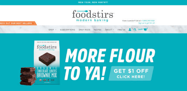 Foodstirs homepage