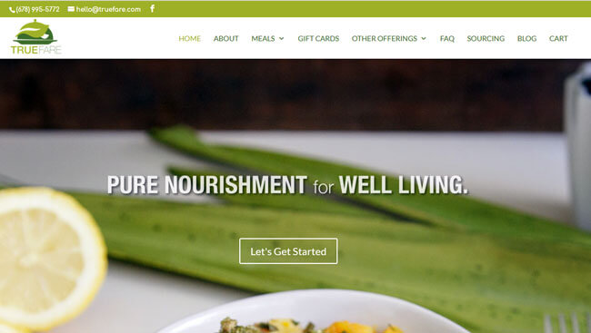 True Fare homepage