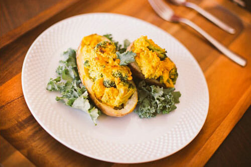 Broccoli Cheeze Twice Baked Potato