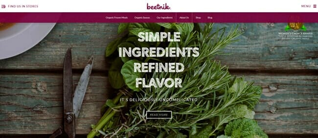 homepage Beetnik Foods