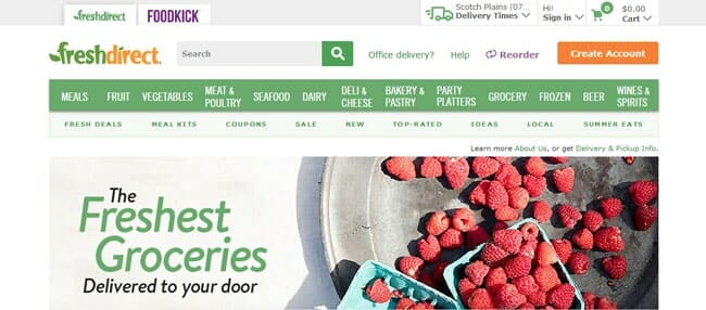 homepage FreshDirect