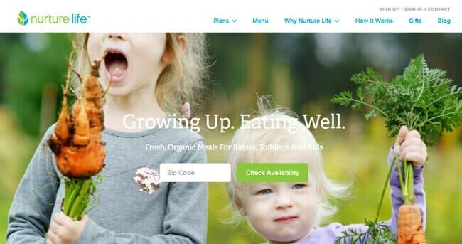 homepage Nurture Life