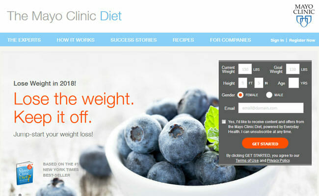 homepage The Mayo Clinic Diet