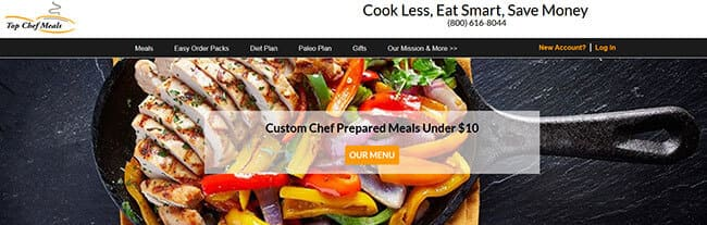 homepage top chef meals