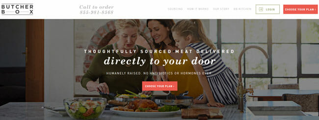 ButcherBox homepage