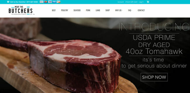 Meat The Butchers homepage