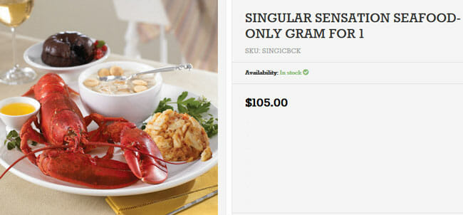 Lobster-Gram-price