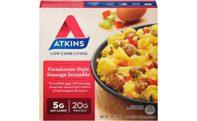 Atkins Meal Delivery farmhouse style sausage scramble