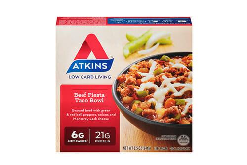 Atkins beef fiesta taco bowl