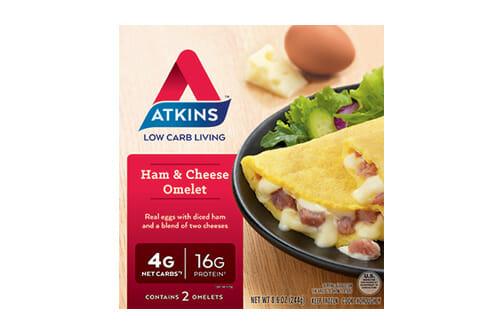 Atkins ham cheese omlet