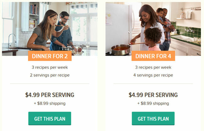 EveryPlate PLAN pricing