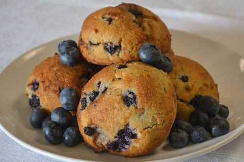 Blueberry Muffin Keto Scone