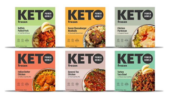 Keto Frozen Power Bowls Packaging