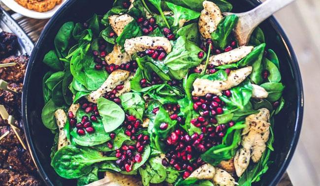 Keto Frozen food salad healthy lunch