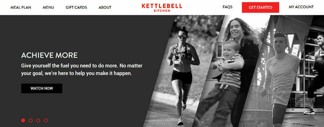 Kettlebell-Kitchen homepage screenshot