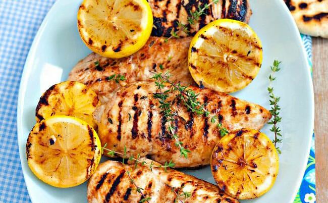 Prepped Herb Seasoned Grilled Chicken