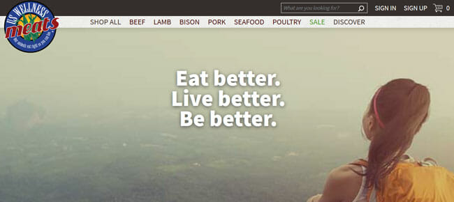 US Wellness Meats screenshoot homepage
