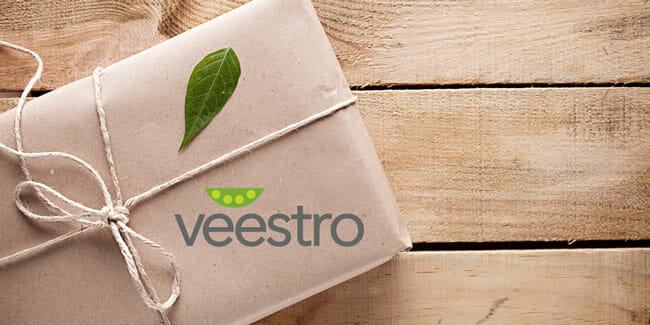 Veestro Shipping In 100% Recyclable Packaging