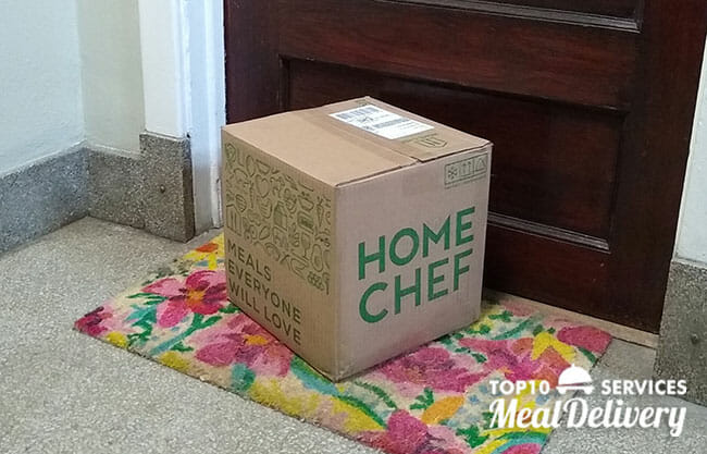 Home Chef Box At the Door