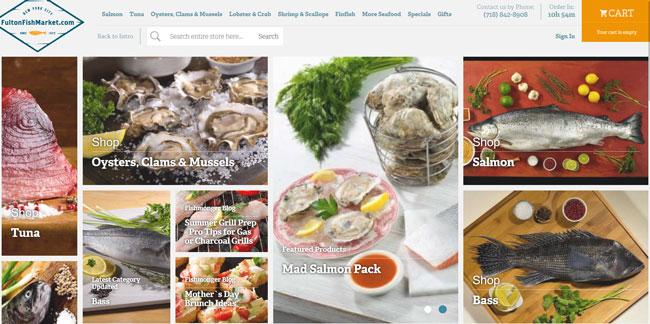 FultonFishMarket.com homepage printscreen