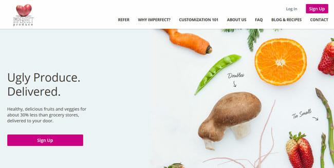 Imperfect-Produce printscreen homepage