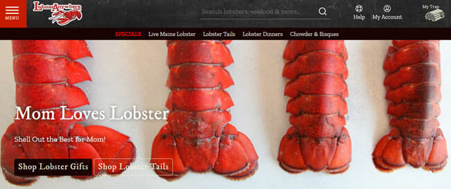 Lobster Anywhere printscreen homepage