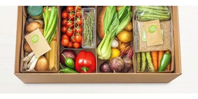 HelloFresh Packaging on white background