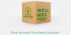 Home Chef account paused