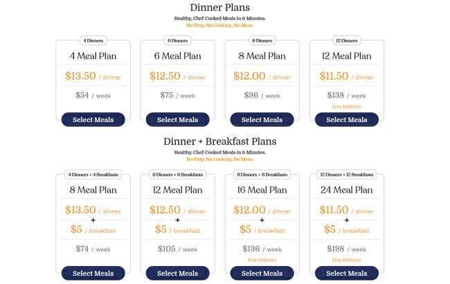 RealEats price plans