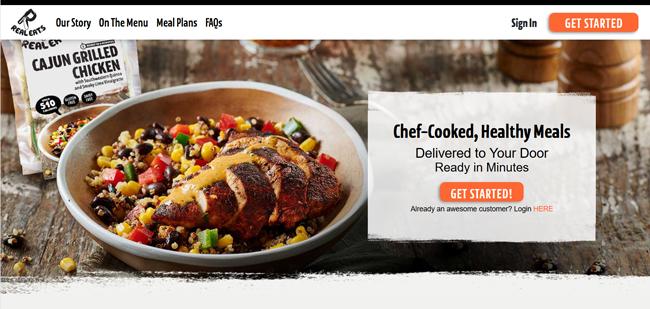 RealEats printscreen homepage new