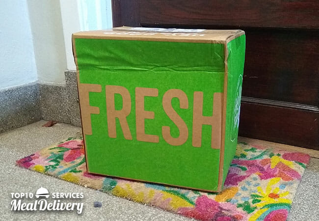 hellofresh box at the door