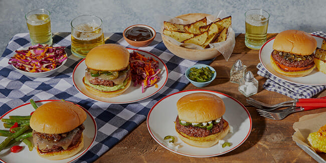 Blue Apron burger on table