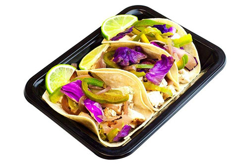 ICON Meals chicken tacos with a purple cabbage blend