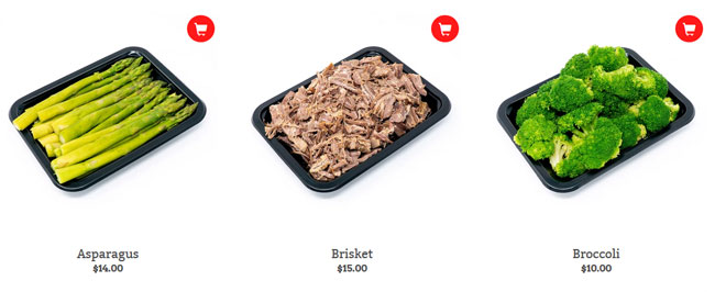 ICON Meals example price