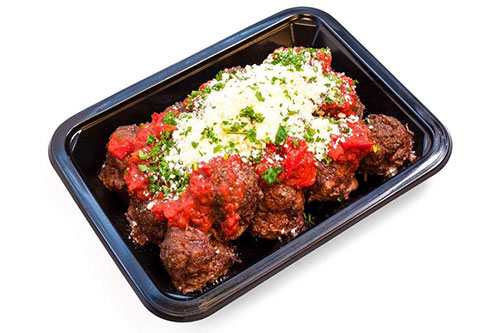 ICON Meals kobe meatballs in a bell pepper marinara