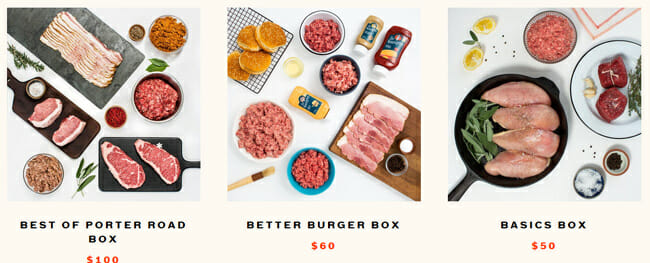 Porter Road box prices