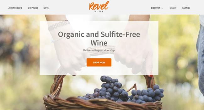 Revel-Wine-Club printscreen homepage
