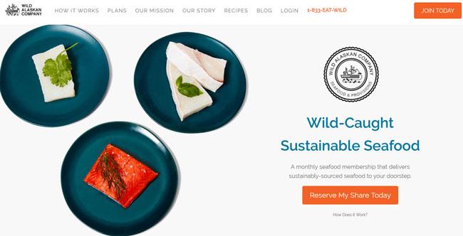 Wild-Alaskan-Company printscreen homepage