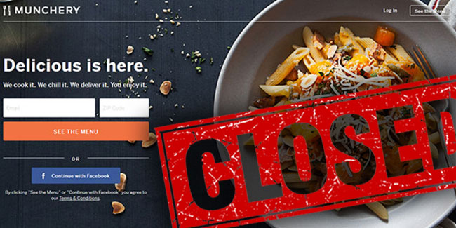 Munchery closed services