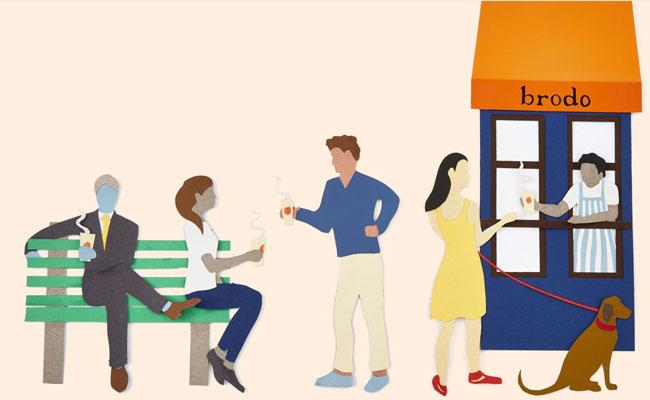 Brodo market illustration