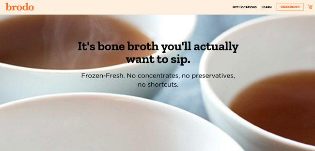 Brodo printscreen homepage